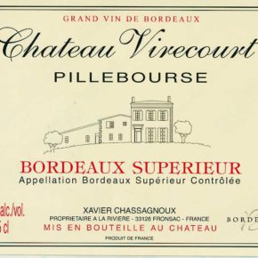 étiquette Château Virecourt Pillebourse