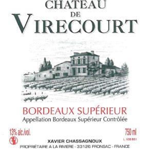 étiquette Château Virecourt
